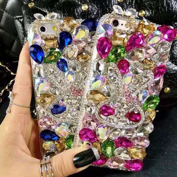 Luxury Bling Diamond Rhinestone Phone Case Shiny Crystal Back Cover Coque for Samsung Galaxy S2 i9100 S3 i9300 S4 i9500 S5 i9600