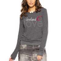 Cleveland Cavaliers Women's City Love Comfy Long Sleeve Tri-Blend Top – Graphite