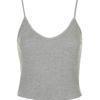 Ribbed Cropped Cami - Topshop