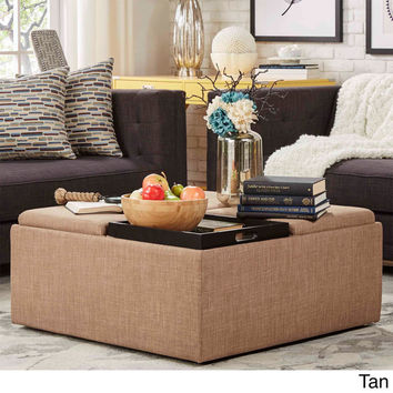 INSPIRE Q Montrose Dark Storage Cocktail Ottoman | Overstock.com Shopping - The Best Deals on Ottomans