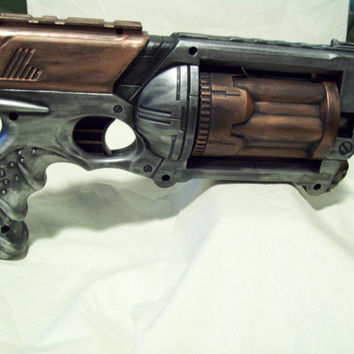 Silver and Copper MODIFIED NERF MAVERICK Steampunk Victorian Gothic Pirate Post Apocalyptic
