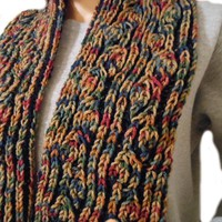 Hand Knit Autumn Scarf | Cathy Creates - Handmade knit and crochet accessories and apparel