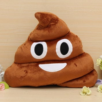 Cute Funny Emoji Cushion Poo Shape Pillow Stuffed Doll Toys Xmas Christmas Gifts = 1946272068