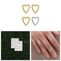 A Little Love - Metallic Heart Temporary Tattoo (Set of 8)