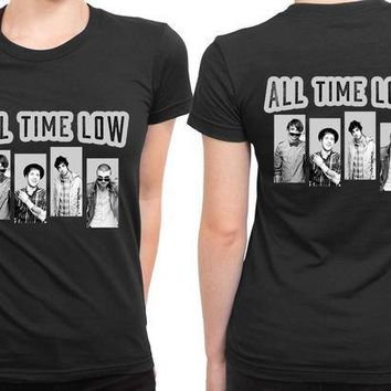 ICIKG72 All Time Low Grayscale 2 Sided Womens T Shirt