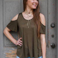 Out for Fun Top - Olive