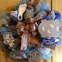 University of NC at Chapel Hill Tar Heels Wreath, Tar Heels Wreath, Unc Chapel Hill, Unc Tarheels Wreath, Tar heels Wreath, Unc Wreath