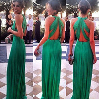 WOMEN MAXI Cocktail Formal Party Cocktail Prom Gown Long Dress