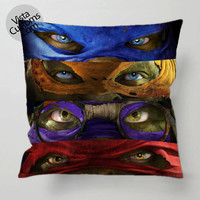 TMNT teenage mutant ninja turtles pillow case, cover ( 1 or 2 Side Print With Size 16, 18, 20, 26, 30, 36 inch )