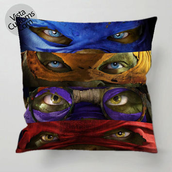 TMNT teenage mutant ninja turtles pillow case, cover ( 1 or 2 Side ...