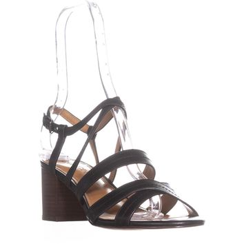 Coach Terri  Strappy Heel Sandals, Black, 8.5 US / 38.5 EU
