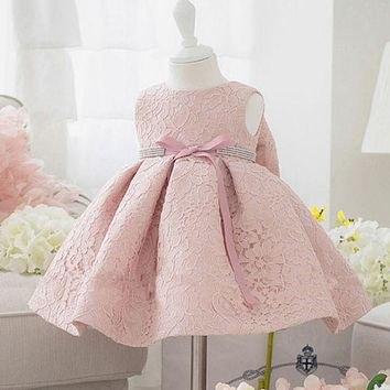 Children Baby Girl Dress Clothing Sequins Party Gown Mini Ball Formal Princess Bow Gown Dress Girl