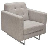 Opus Tufted Chai in Barley Fabric