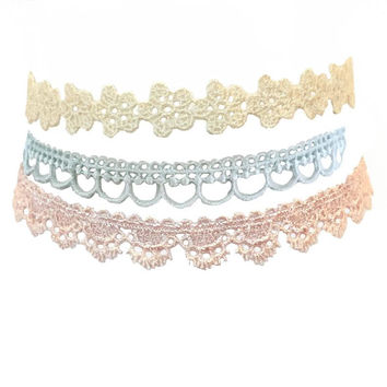 Pretty In Pastel Choker Necklace Set