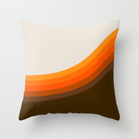 Golden Horizon Diptych - Right Side Throw Pillow by Circa 78 Designs