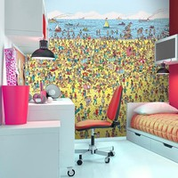 Wheres Wally Beach Wall Mural