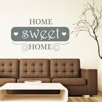 Wall Decal Quotes Home Sweet Home Art Mural Love Family Design Vinyl Decals Living Room Bedroom Hotel Hostel Window Stickers Home Decor 3759