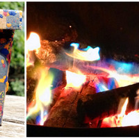 Rainbow Maker Changes the Color of Your Fire in a Firepit or Fireplace
