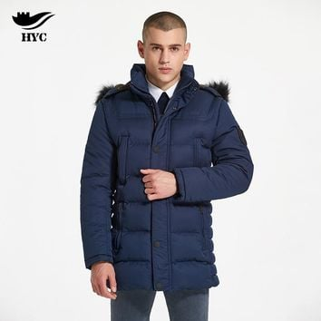 HAI YU CHENG Quilted Puffer Jacket Winter Coat Male Anorak Outerwear & Coats Windproof Jacket Slim Parka Men Overcoat For Men