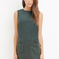 Contemporary Faux Suede Shift Dress