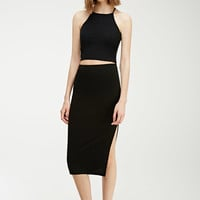 Slit Midi Skirt - Skirts - 2000132482 - Forever 21 UK