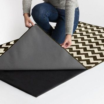 Ruggable 2-Piece Washable Indoor/Outdoor Rug - Chevron