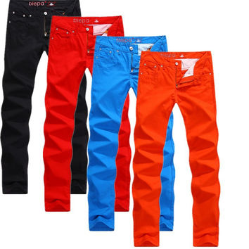 Winter Men 3-color Casual Slim Stylish Pants [6541849475]