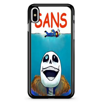 Undertale Sans Jaws Movie Poster iPhone X Case