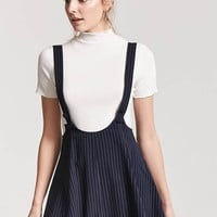 Pinstripe Overall Dress