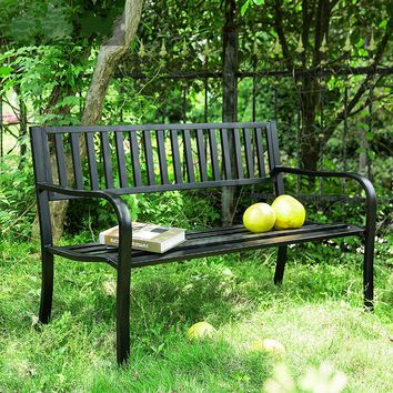 Courtyard Iron Lounge Chair Outdoor  Balcony Chair, Double Chair, Park Back Chair Leisure Bench