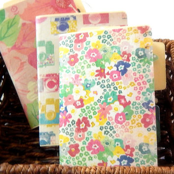 Handmade Folder Journal. Flower Journal. Mini Journal. Filofax Planner. Writing Journal. Mini Notebook Journal. Junk Journal. Smash Book.