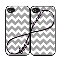 Chevron Grey Best Friends Set Of Two (2) iPhone 4/4s iPhone Case