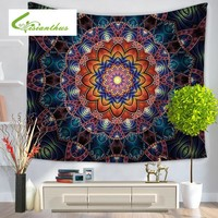 Mandala Colored Wall Tapestry Printed Home Decorative Beach Shawl Tablecloth Window Curtain Yoga Mat Indian Bohemian Wall Carpet