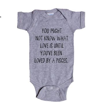 You might not know what love is until you've been loved by a Pisces. Baby Onesuit