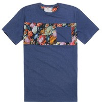 On The Byas Jeffrey Pieced Floral T-Shirt - Mens Tee - Blue -