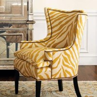 """Sunflower Zebra"" Chair - Horchow"