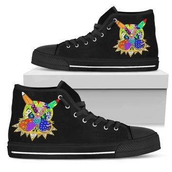 Juanie Art Inspired Men's High Top Shoe