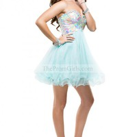 2014 Short/Mini Tulle Babydoll Lilac Sequin Sweetheart Party Dress Corset