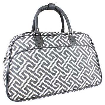 Maternity Hospital Labor LUGGAGE ONLY - Greek Key Grey