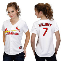St. Louis Cardinals Women's Personalized Replica Jersey by Majestic Athletic - MLB.com Shop
