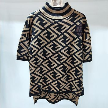 Fendi Women Fashion Casual Knitwear Shirt Top Tee