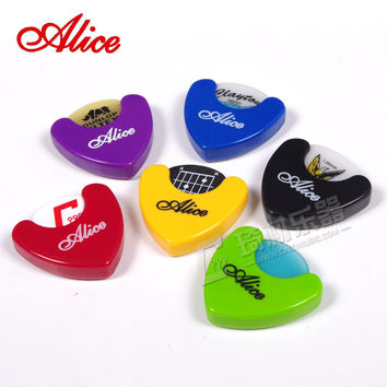 Alice A010A Triangle Guitar Pick Holder Case Storage Box Self Stick