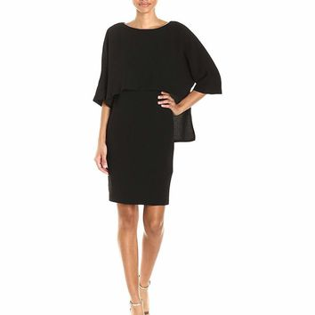Adrianna Papell - 11252240 Quarter Sleeve Pop over Blouson Dress