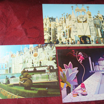 ON SALE Disneyland  Post Card Lot of 3,Vintage Paper Ephemera