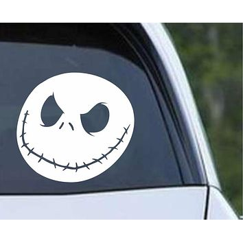 The Nightmare Before Christmas Jack Skellington Face Die Cut Vinyl Decal Sticker