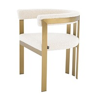 Bouclé Cream Barrel Dining Chair | Eichholtz Clubhouse