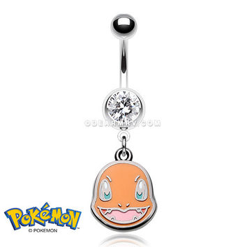 Charmander Pokemon Belly Button Ring