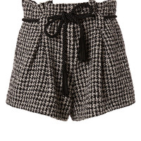 L'Agence Houndstooth Paperbag Shorts - INTERMIX®