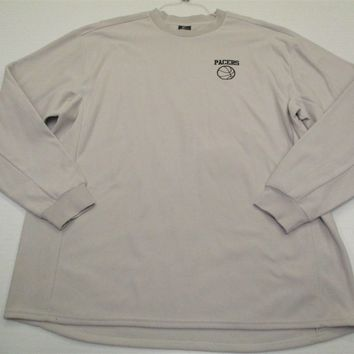 NIKE #K4495 Men's Size XL Therma-Fit Light Gray Pacers Basketball Fleece Sweater