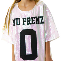 UNIF No Nu Frenz Sequins Top White
